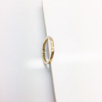 Geltono aukso žiedas iš perdirbto aukso