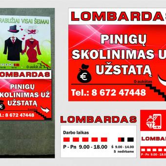 Lauko reklama/reklama ant fasado