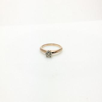 Klasikinis sužadėtuvių žiedas su briliantu