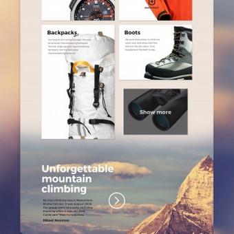"""""""UpNorth"""" Firminis stilius ir svetainės dizainas. Svetainė skirta keliautojų bendruomenei.  Daugiau darbų  → http://www.andriusdesigner.com/"""