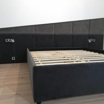 Minkštos 3D sienų plokštės, lovos, galvūgaliai / Gražvydas / Darbų pavyzdys ID 604783