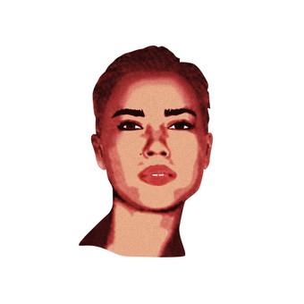 Portrait for Vilnius based graphic designer. www.behance.net/agnelabokaite