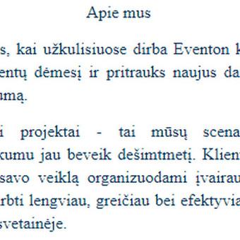 Turinio strategija verslui / Rašytoja / Copywriter (LT, EN) / Monika Ditkevičiūtė / Darbų pavyzdys ID 606469