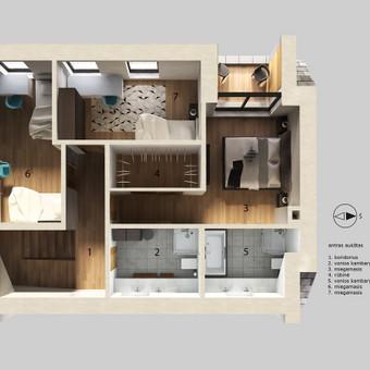 Architektūrinių vizualizacijų kūrimas / Akvilė Miniotaitė / Darbų pavyzdys ID 615131