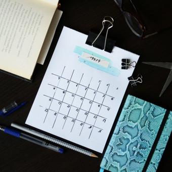 Rankų darbo minimalistinis kalendorius 2016. PARDUODAMA Moderni kaligrafija /plunksna, tušas, akvarelė/