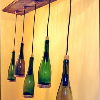 Originalios interjero detalės iš perpjautų stiklinių butelių / Romanas RAnamai / Darbų pavyzdys ID 82672