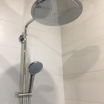 """Sanitarinių prietaisų montavimas, dušo sistema """"Grohe"""""""