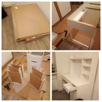 Ikea baldų surinkimas.