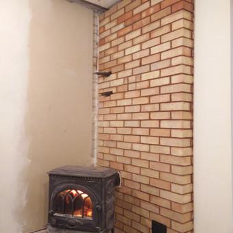 Šildymo sienelė iš plytų