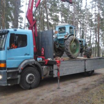 Krovinių pervežimas, iškrovimas-pakrovimas manipuliatoriumi / Valdas Vasilevskas / Darbų pavyzdys ID 628219