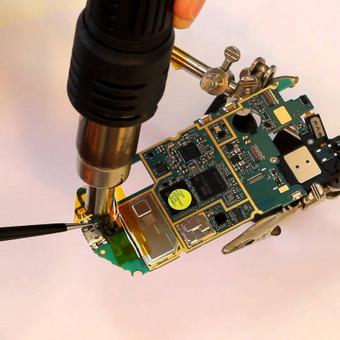 Micro USB lizdų keitimas, audio lizdų keitimas