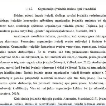 Ištrauka iš parengto magistrinio darbo. Teorinės darbo dalies ištraukos fragmentas. Užsakymas rengtas Klaipėdos universitetui