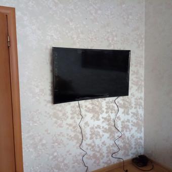 Televizoriaus kabinimas / tvirtinimas / montavimas ... nuo mažų, didelių, lenktų...