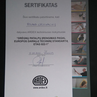 Statybos darbai / Rolandas Grochackij / Darbų pavyzdys ID 84109