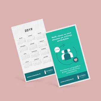 """Socealinės iniciatyvos """"Artimiems"""" kalendoriaus maketas"""