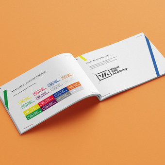 """Prezentacijų kūrimo akademijos """"Visual Talk academy"""" grafinio identiteto knyga"""