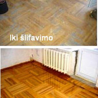 Slifavimas,atnaujinimas mediniu grindu,parketo / Slifavimas / Darbų pavyzdys ID 640857