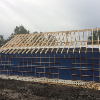 Individualių namų statyba.Karkasinių namų statyba. / Remigijus Valys / Darbų pavyzdys ID 647047