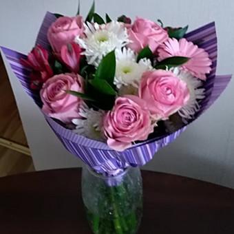 Gėlių pristatymas į namus Klaipėdoje / Floristikos Namai / Darbų pavyzdys ID 647789