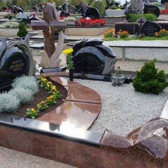 Paminklai, gaminiai is granito, kapų tvarkymas, skaldelė / Rimtas būstas / Darbų pavyzdys ID 647833