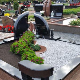 Paminklai, gaminiai is granito, kapų tvarkymas, skaldelė / Rimtas būstas / Darbų pavyzdys ID 647835