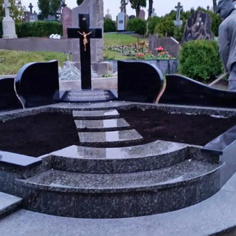 Paminklai, gaminiai is granito, kapų tvarkymas, skaldelė / Rimtas būstas / Darbų pavyzdys ID 647849