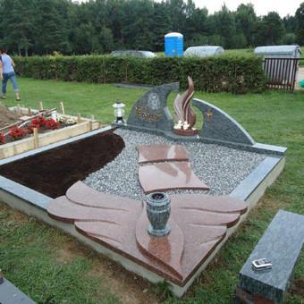 Paminklai, gaminiai is granito, kapų tvarkymas, skaldelė / Rimtas būstas / Darbų pavyzdys ID 647853