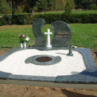Paminklai, gaminiai is granito, kapų tvarkymas, skaldelė / Rimtas būstas / Darbų pavyzdys ID 647855