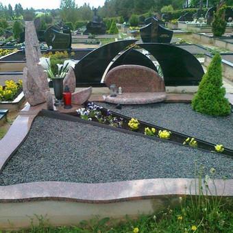 Paminklai, gaminiai is granito, kapų tvarkymas, skaldelė / Rimtas būstas / Darbų pavyzdys ID 647873