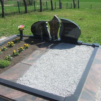 Paminklai, gaminiai is granito, kapų tvarkymas, skaldelė / Rimtas būstas / Darbų pavyzdys ID 647875