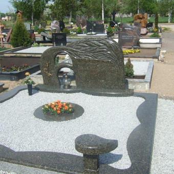 Paminklai, gaminiai is granito, kapų tvarkymas, skaldelė / Rimtas būstas / Darbų pavyzdys ID 647879
