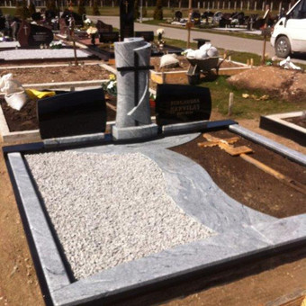 Paminklai, gaminiai is granito, kapų tvarkymas, skaldelė / Rimtas būstas / Darbų pavyzdys ID 647975
