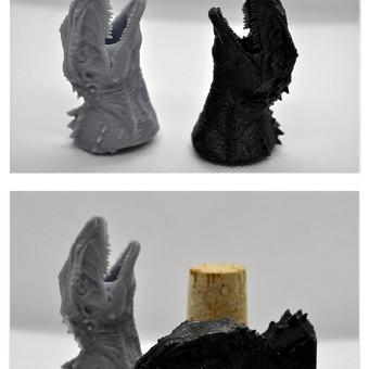Dinozauro galva spausdinta su DLP spausdintuvu. Figūrų aukštis 6cm