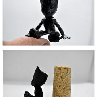 Grūto mini figūrėlė, aukštis 4cm spausdinta su DLP spausdintuvu.