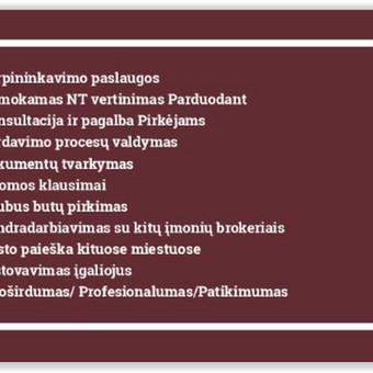 NT Brokerė Šiauliuose Sigita Brazdeikienė / Sigita Brazdeikiene / Darbų pavyzdys ID 659769