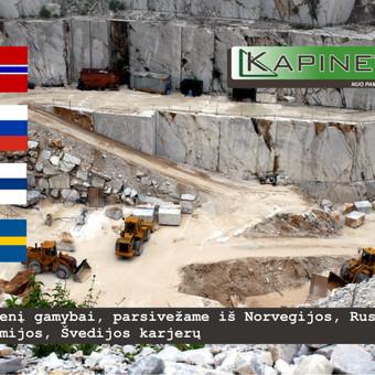 Kokybiškas akmuo iš Rusijos bei Europos regionų.