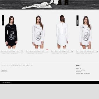 Eshopo dizainas rūbų kūrėjui ir gamintojui. / 2ru2ra.com