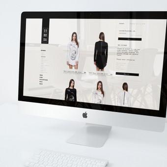 Eshopo dizainas rūbų gamintojui. Pagrindinis puslapis. / 2ru2ra.com