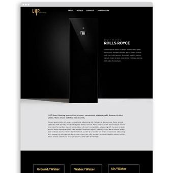 Int.svetainės dizainas įmonei parduodančiai išskirtinio dizaino, Lietuvoje gaminamus, geoterminio šildymo siurblius. / lhp-heating.com