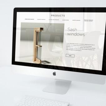 Svetainės dizainas  - pagrindinis puslapis