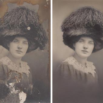 senos nuotraukos restauravimas