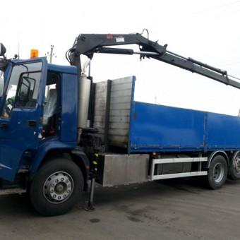 Fiskaro - Manipuliatoriaus paslaugos Transporto paslaugos (krovinių gabenimas) su fiskar kranais manipuliatoriais