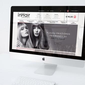 El.parduotuvės dizainas - pagrindinis puslapis. / inhair.lt