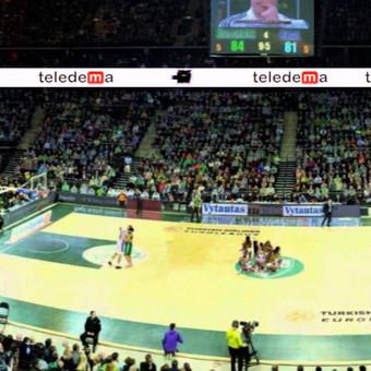 """TELEDEMA reklama """"Žalgirio"""" arenoje"""