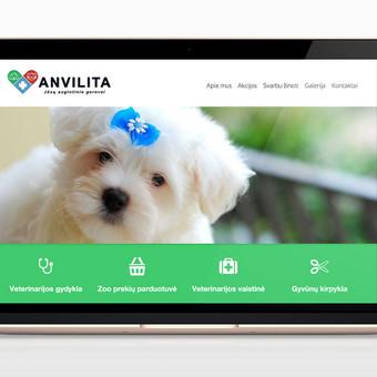 Reprezentacinė svetainė veterinarijos gydyklai: www.anvilita.lt