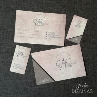 Logotipo kūrimas, vizitinės kortelės ir dovanų kupono maketavimas.