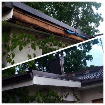 Smulkus stogo remontas - skardų prisukimas ir fasado suformavimas