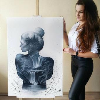 Portretų piešimas, paveikslų tapyba. / Sandra Stalmokaitė / Darbų pavyzdys ID 675693