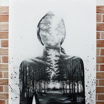 Portretų piešimas, paveikslų tapyba. / Sandra Stalmokaitė / Darbų pavyzdys ID 675695