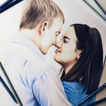 Portretų piešimas, paveikslų tapyba. / Sandra Stalmokaitė / Darbų pavyzdys ID 675699